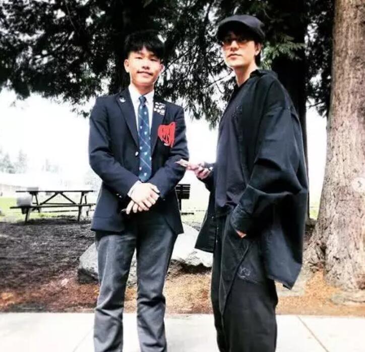 陈坤和儿子同框