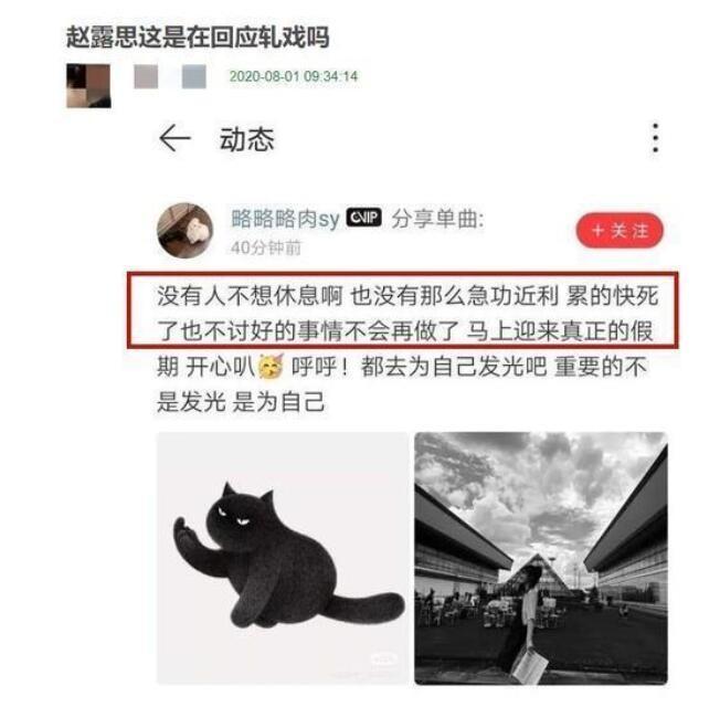 赵露思疑回应轧戏